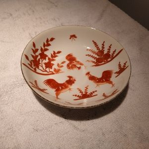 """Vtg Chicken/Rooster Nature/Farm Bowl (5.5"""")"""